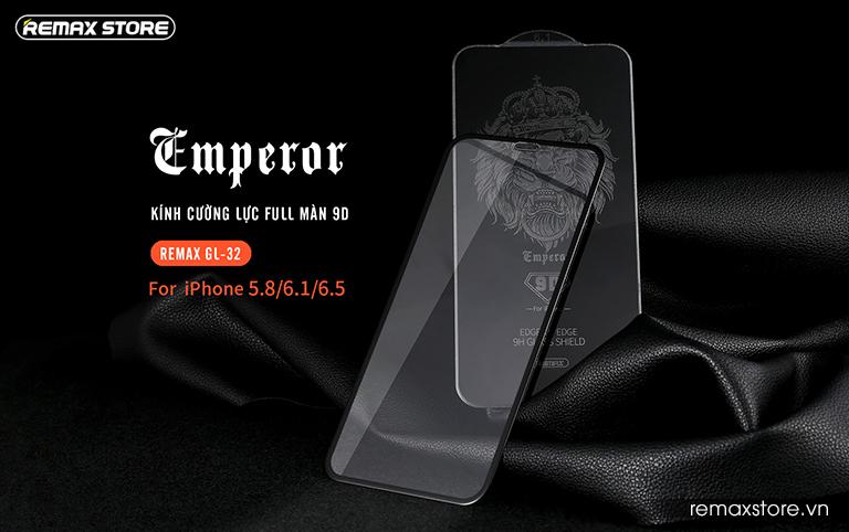 Kính cường lực iPhone 5.8 (X)/6.1/6.5 full màn 9D Remax GL-32 1