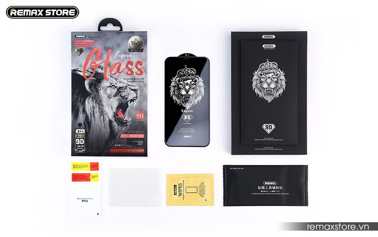 Kính cường lực iPhone 5.8 (X)/6.1/6.5 full màn 9D Remax GL-32 9