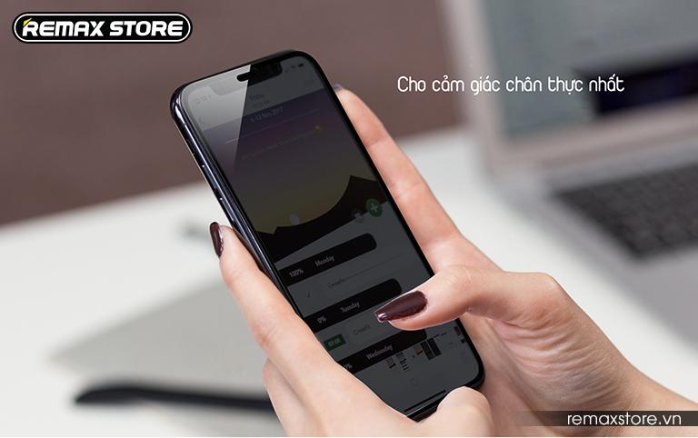 Kính cường lực iPhone X full màn 9D chống nhìn trộm Remax GL-35 (2)
