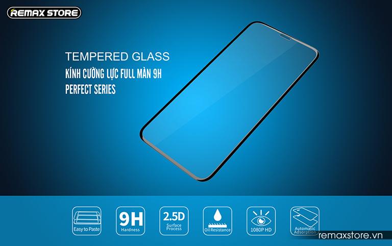 Kính cường lực full màn 9H dành cho iPhone XR/XS Max Perfect Series - ảnh 2