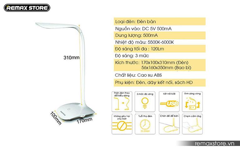 Đèn led để bàn cảm ứng thông minh Remax Table - 3
