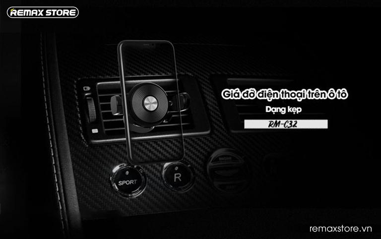 Giá đỡ điện thoại trên ô tô Remax RM-C32 - 1