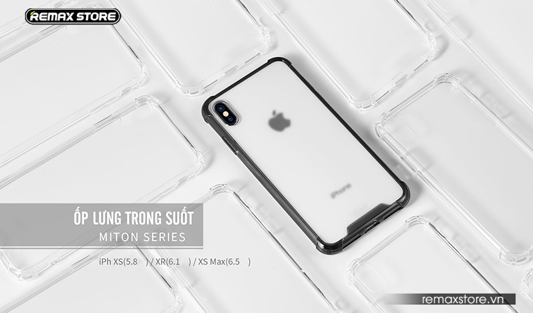 Ốp lưng trong suốt Miton Series dành cho iPhone XR/XS/XS Max - Ảnh 3