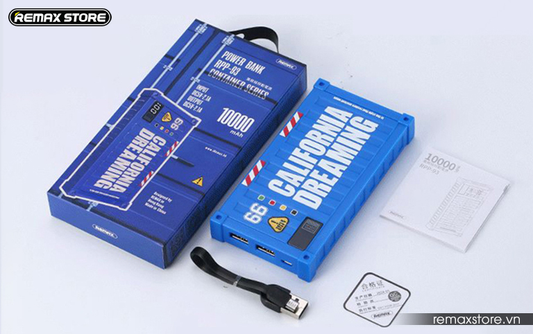 Pin sạc dự phòng 10000mAh Remax RPP-93 - 10