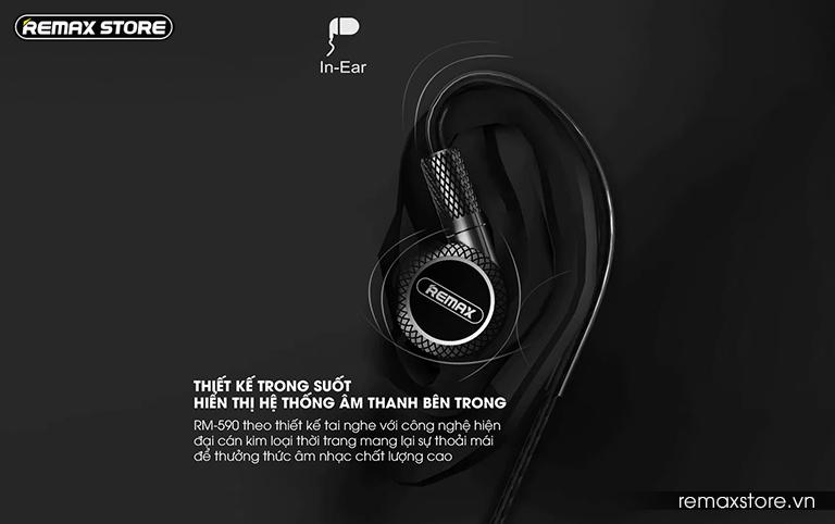Tai nghe in-ear Remax RM-590 - Ảnh 3