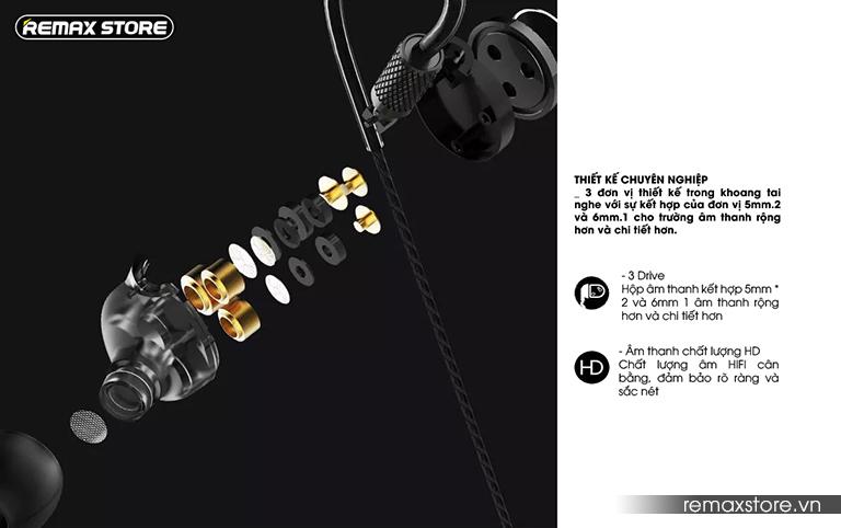 Tai nghe in-ear Remax RM-590 - Ảnh 4