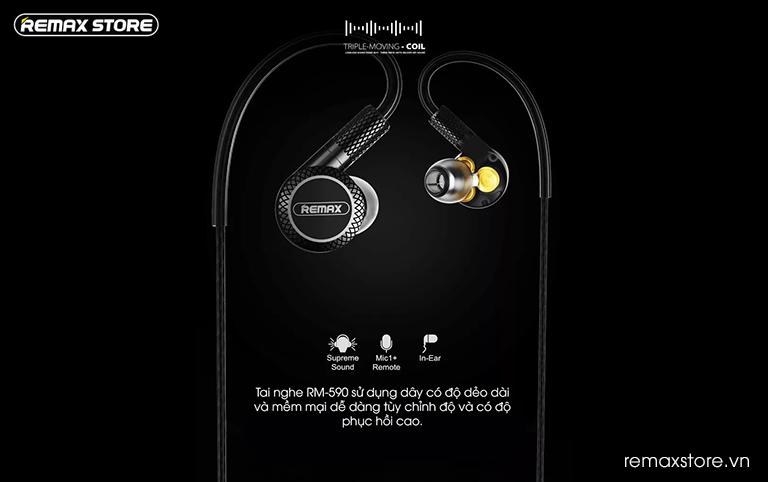 Tai nghe in-ear Remax RM-590 - Ảnh 7