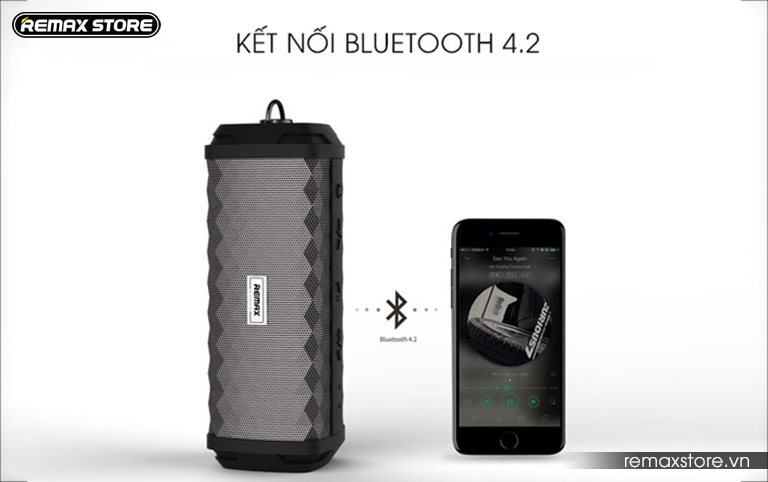 Loa Bluetooth xách tay chống nước Remax RB-M12 - 4